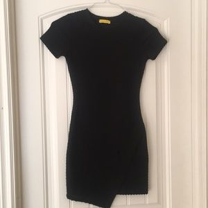 Dee Elle Nordstrom asymmetrical black dress- XS